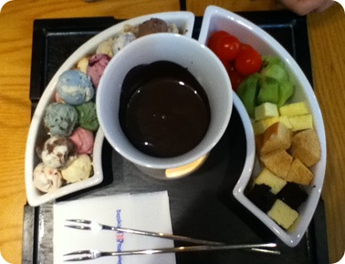 icecream fondue
